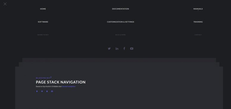 Page-stack-navigation-free-website-menu-templates