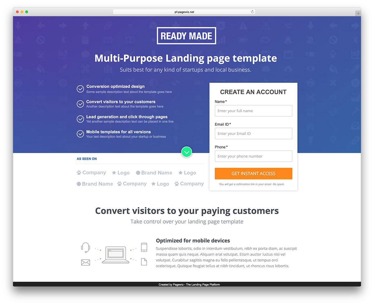 20 Eye-Appealing Pagewiz Marketing Templates 2019