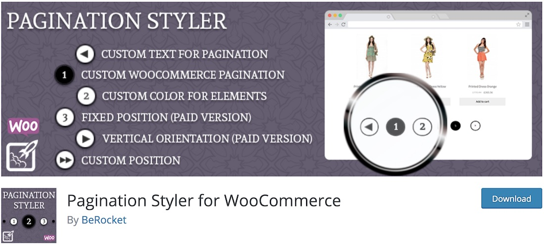 pagination styler for woocommerce wordpress plugin