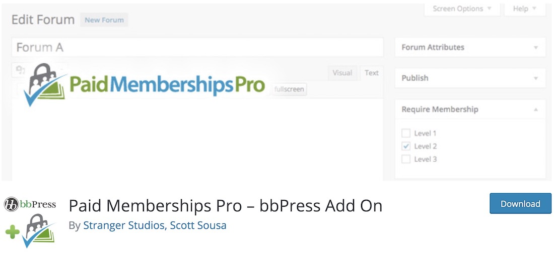 paid memberships pro bbpress plugin
