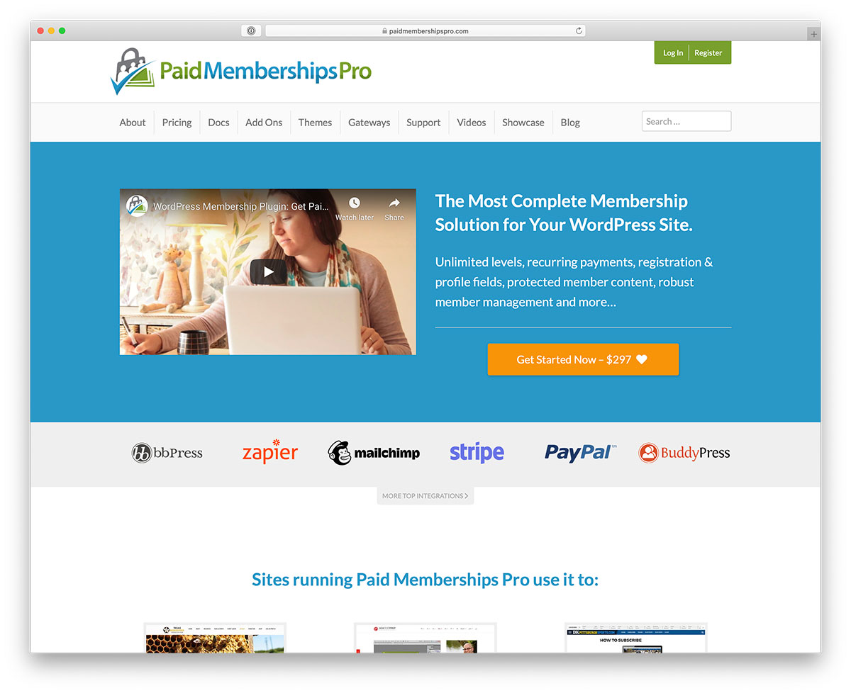 Paid membership management plugin for WordPress