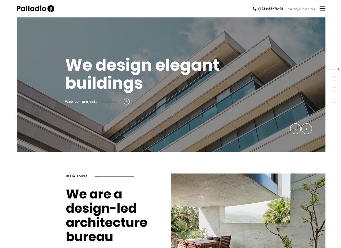 Palladio | Interior Design & Architecture WordPress Theme
