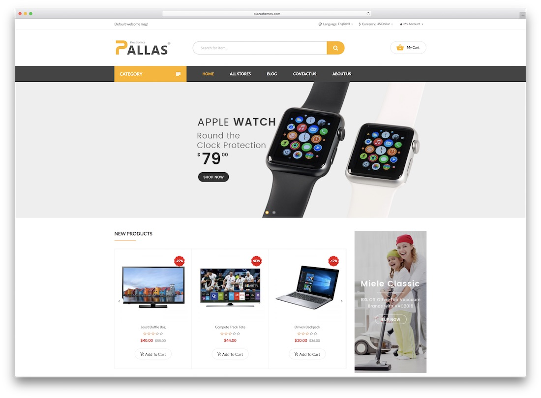 pallas magento technology theme