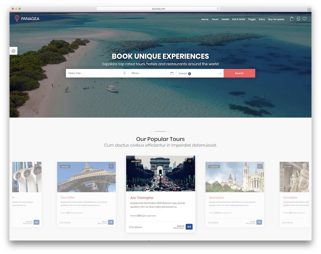 panagea interactive website template