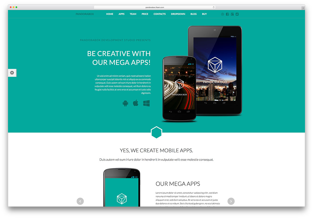 pandorabox-creative-android-app-landing-page