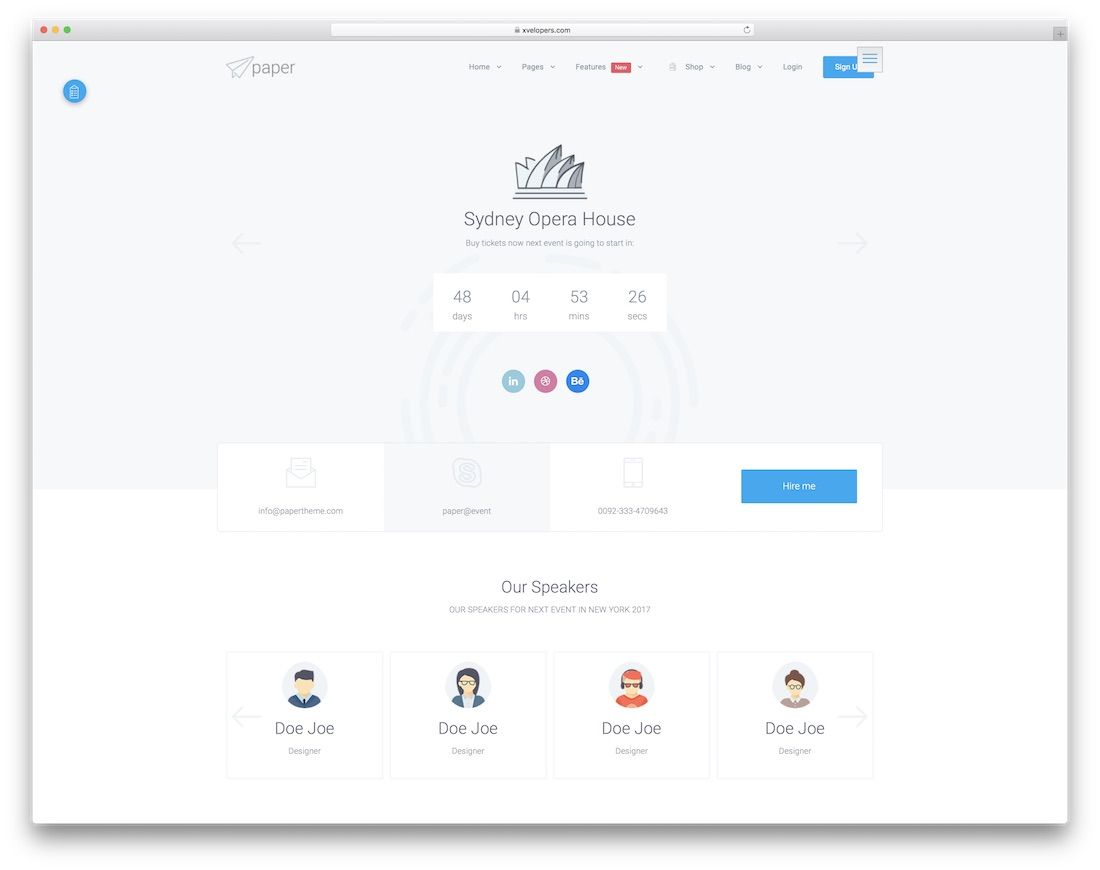 paper community website template