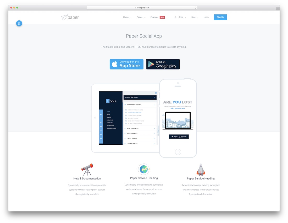30 Awesome HTML5 Landing Page Templates 2019 - Colorlib