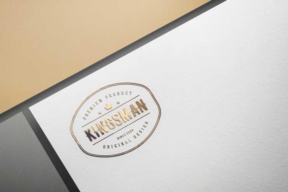 paper logo mockup in psd