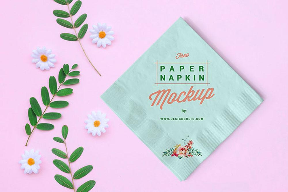 paper napkin mockup