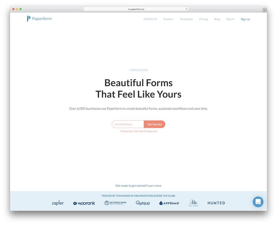 paperform online form maker
