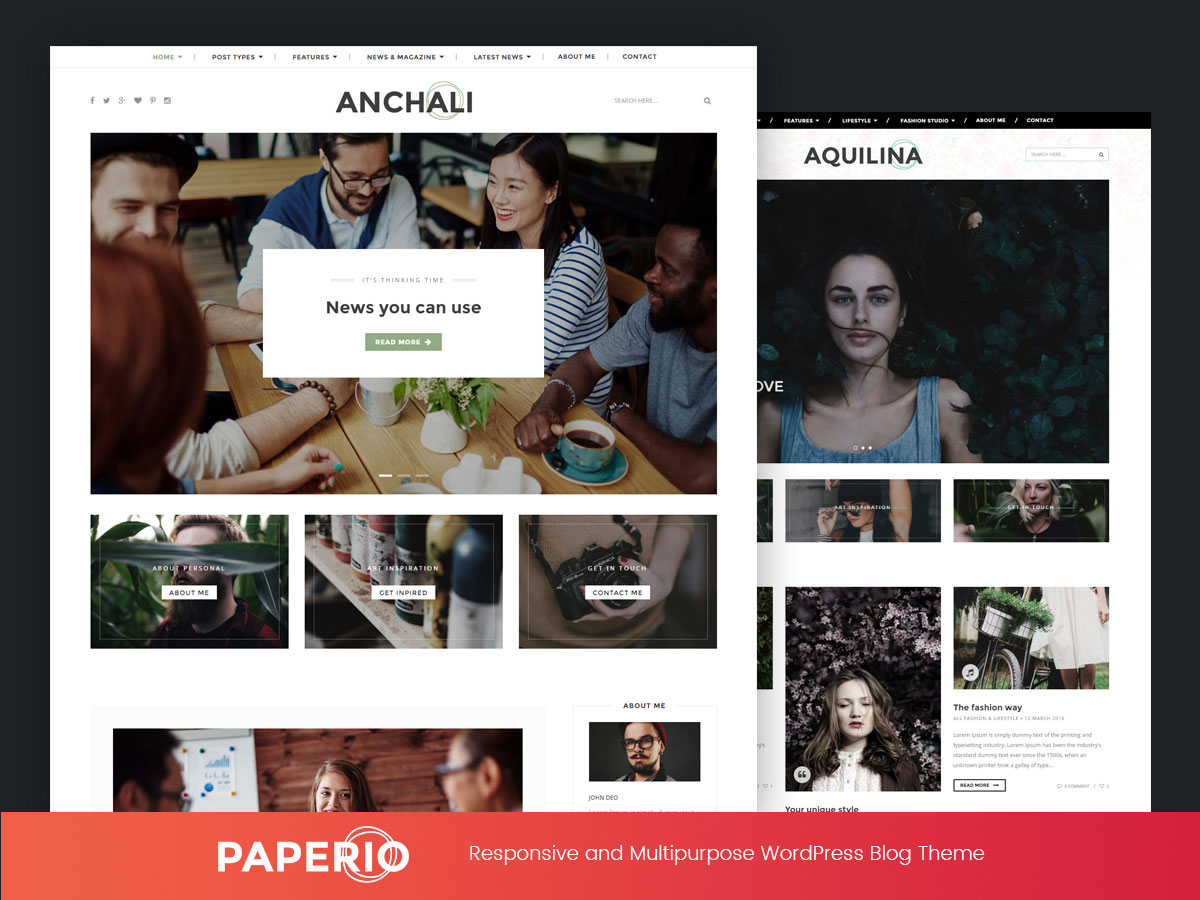 Google themes personalized homepage - Paperio Is A Versatile Minimalistic Multipurpose Blog Wordpress Theme You Will Get 7 Pre Built Demos For Different Purposes