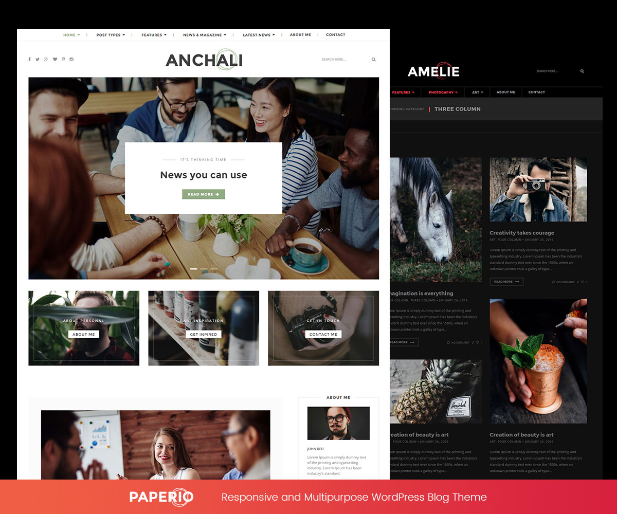 paperio wordpress photography blog themes - 25 Marvelous WordPress Photography Blog Themes For Hobby and Professional Photographers 2018