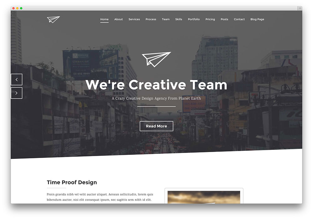 paperplane - minimal parallax wordpress theme