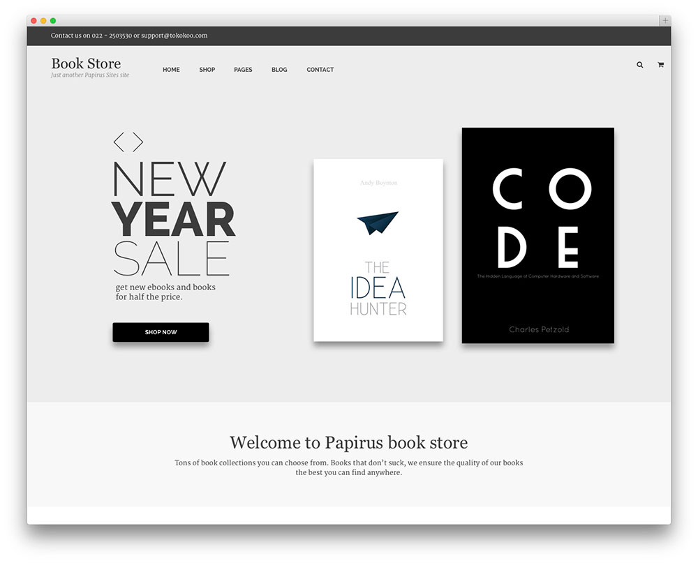 Papirus - Bookstore theme