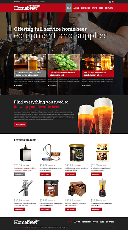 Homebrew Merchandise Store WooCommerce Theme