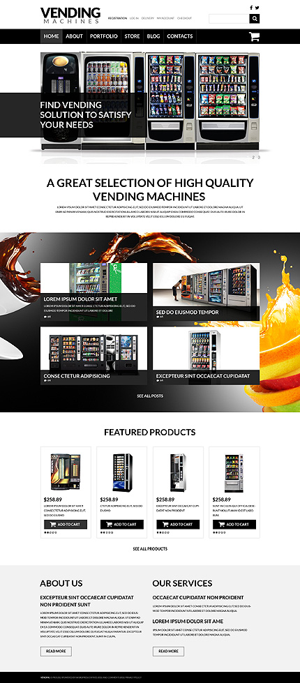 Vending Machine Business WooCommerce Theme