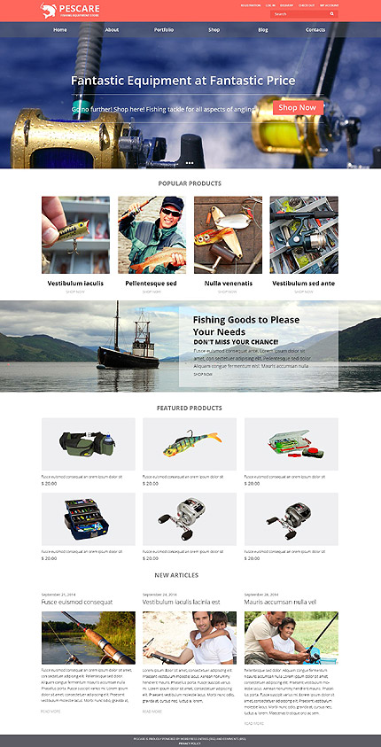 Fishing Gear WooCommerce Theme