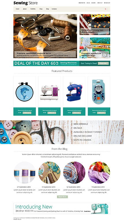 Sewing Store WooCommerce Theme