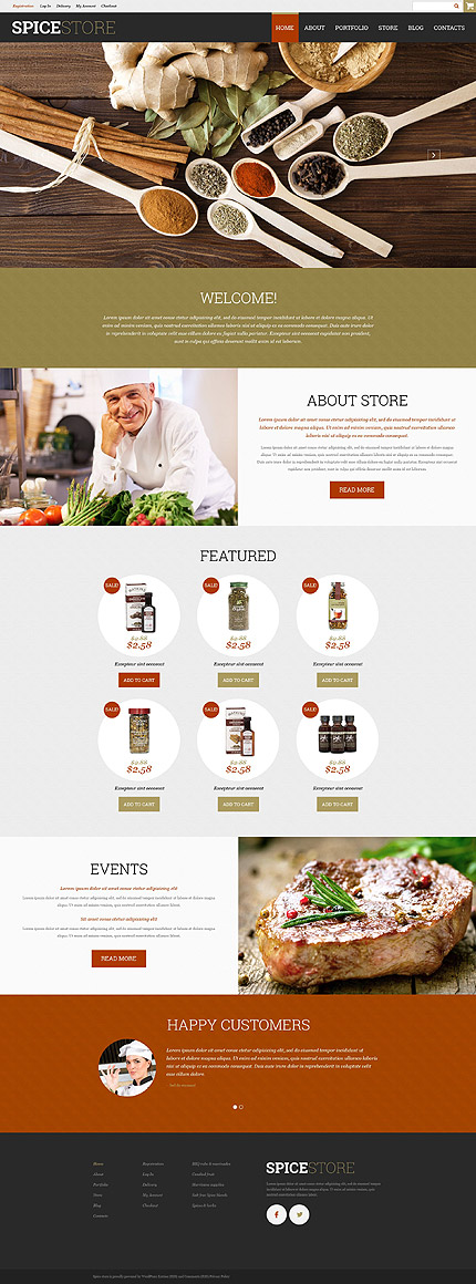 Spice Shop WooCommerce Theme