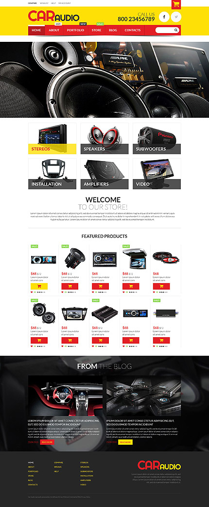 Car Audio WooCommerce Theme