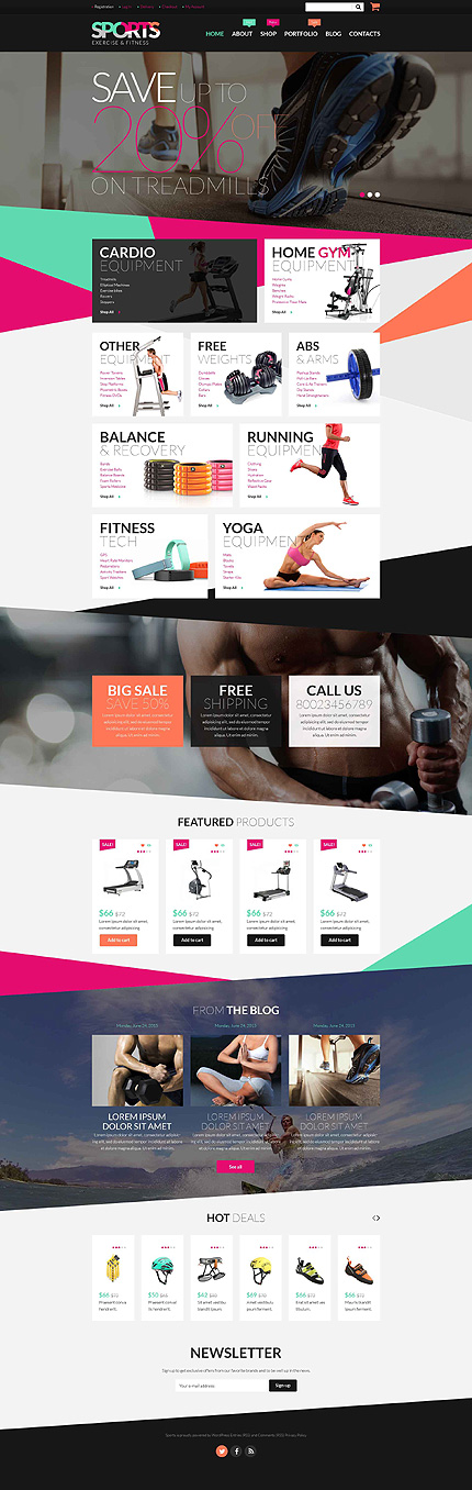 Fitness Equipment WooCommerce Theme