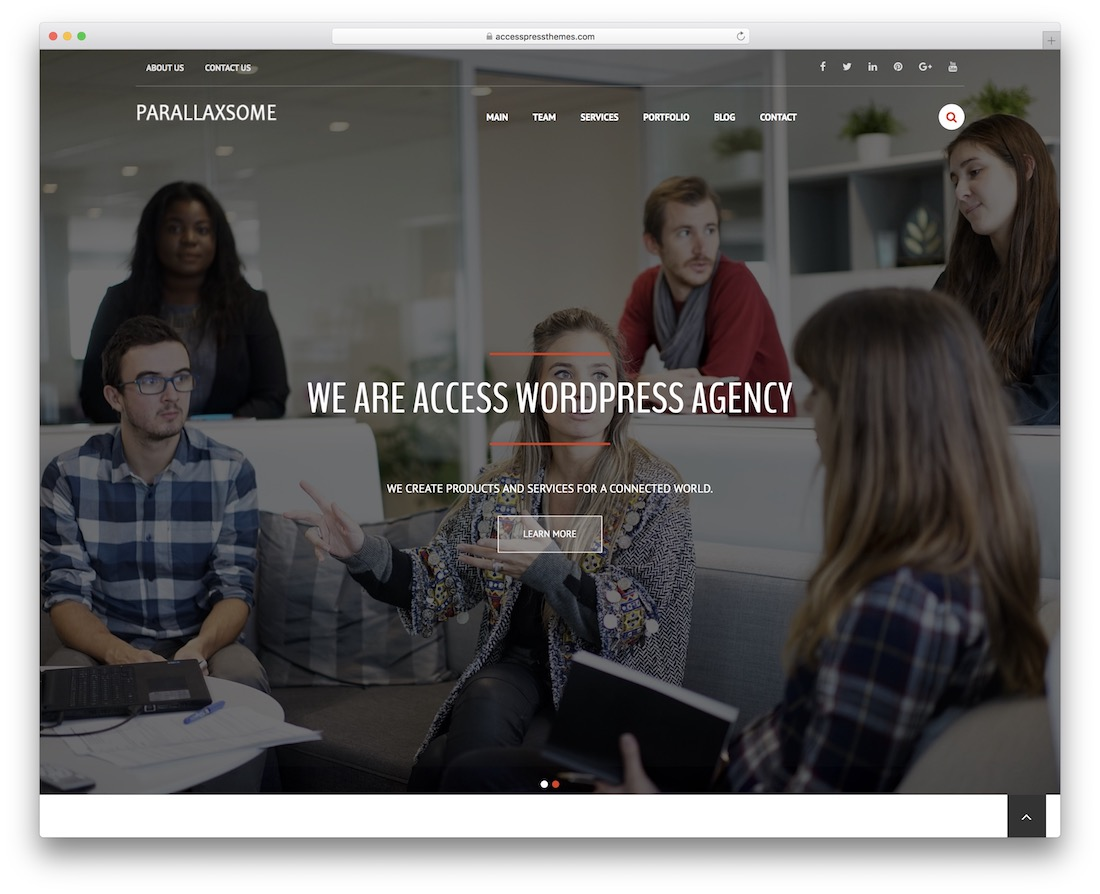 parallaxsome free wordpress theme