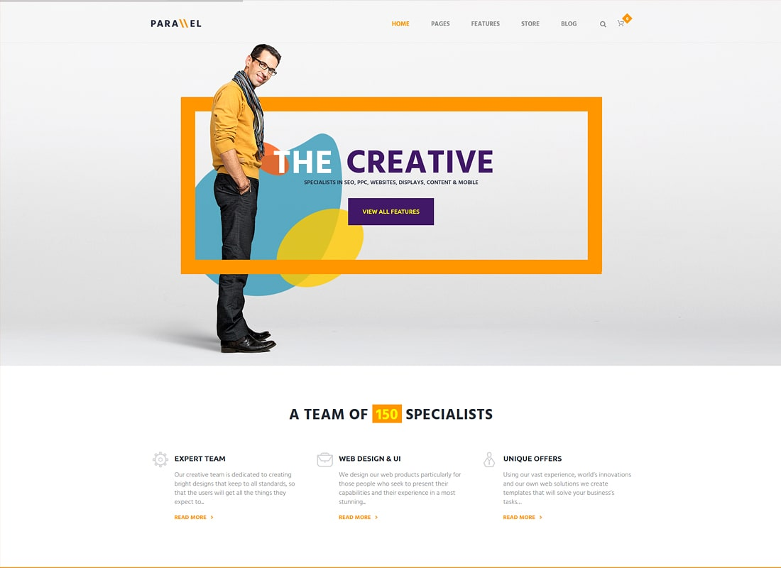 Parallels | Multipurpose Site Template