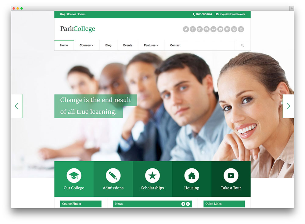 ParkCollege WordPress theme