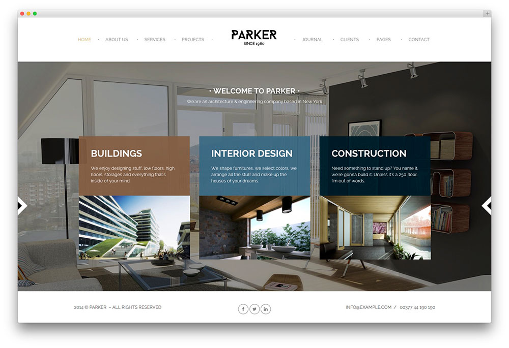 parker ajax corporate theme