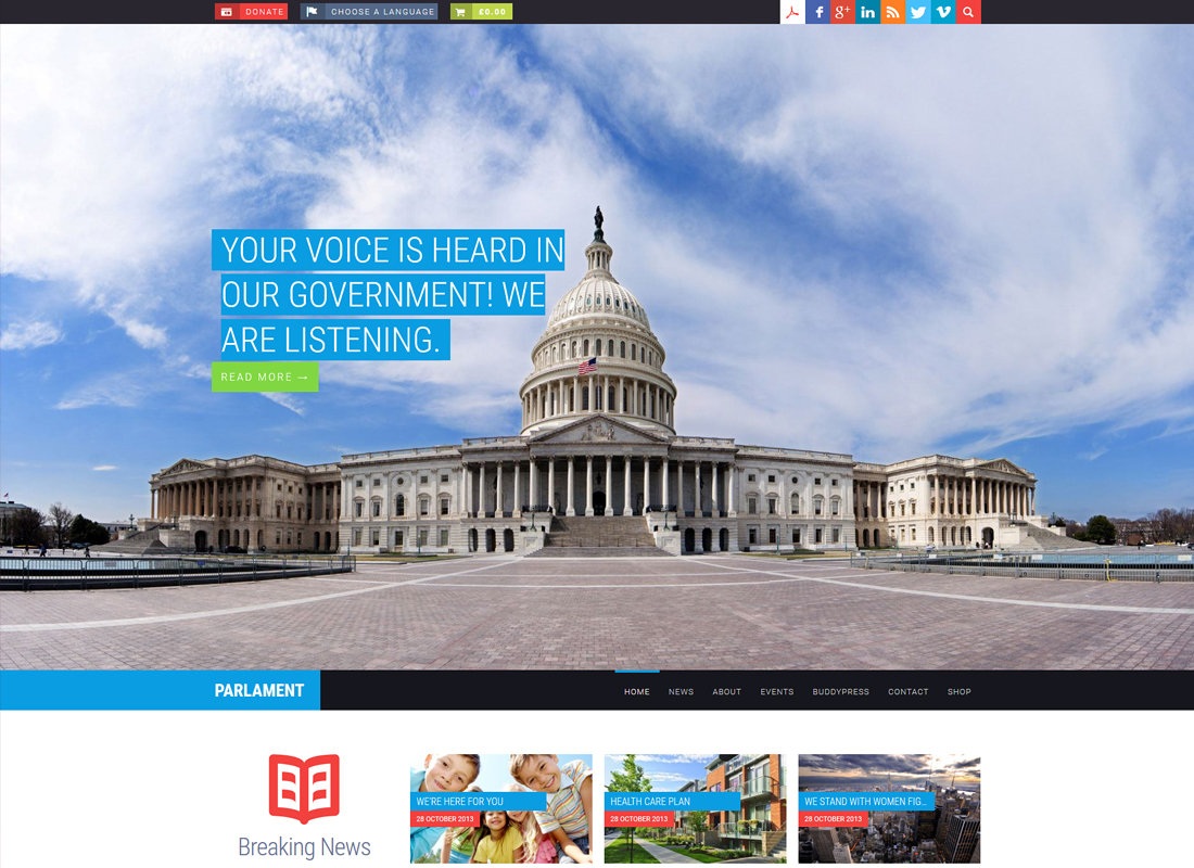 Parlament | Political WordPress Theme