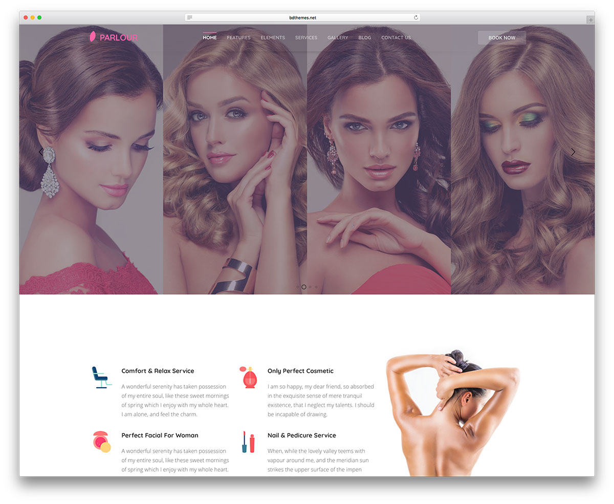 Parlour Is A Creative WordPress Theme Oriented To Beauty Every Feature Covers Parlor Necessity If You Ask Why Should I Choose Like My