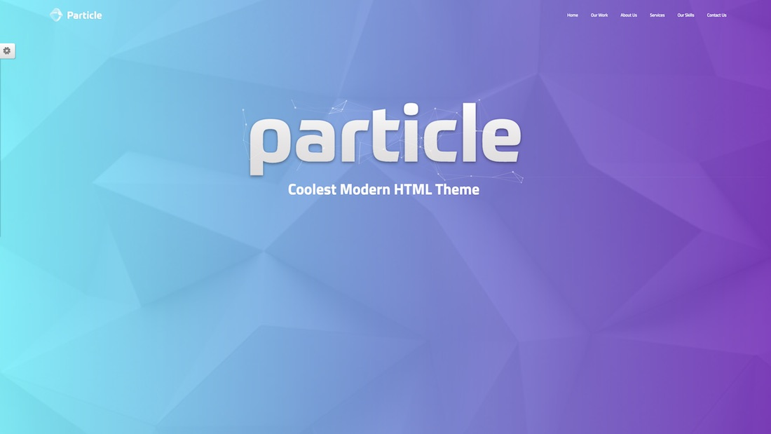 particle technology website template