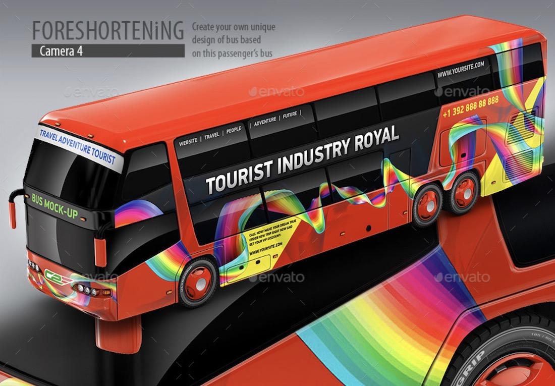 passenger coach bus mockup