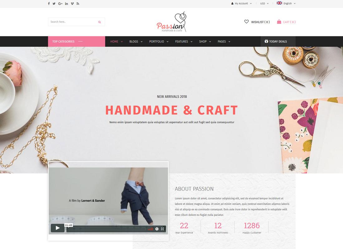 Passion   Handmade & Craft WooCommerce WordPress Theme