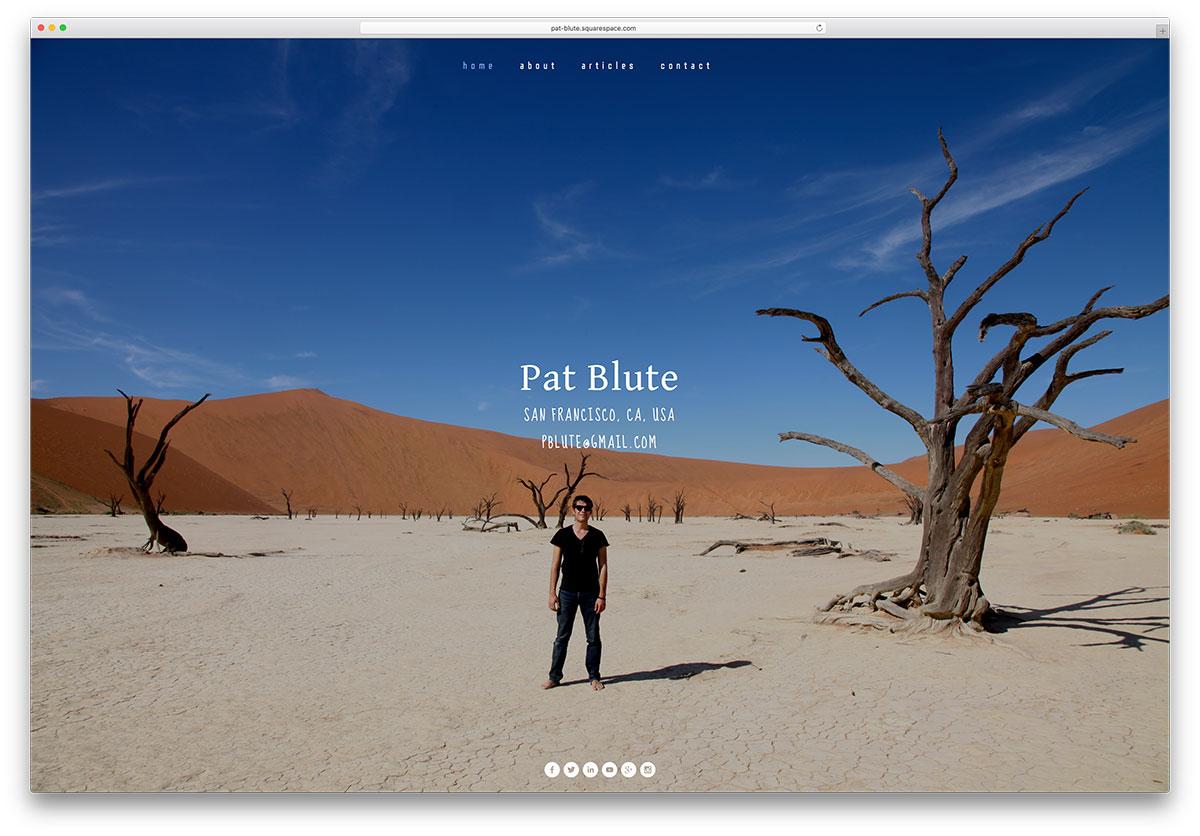 pat-blute-squarespace-personal-vcard-website