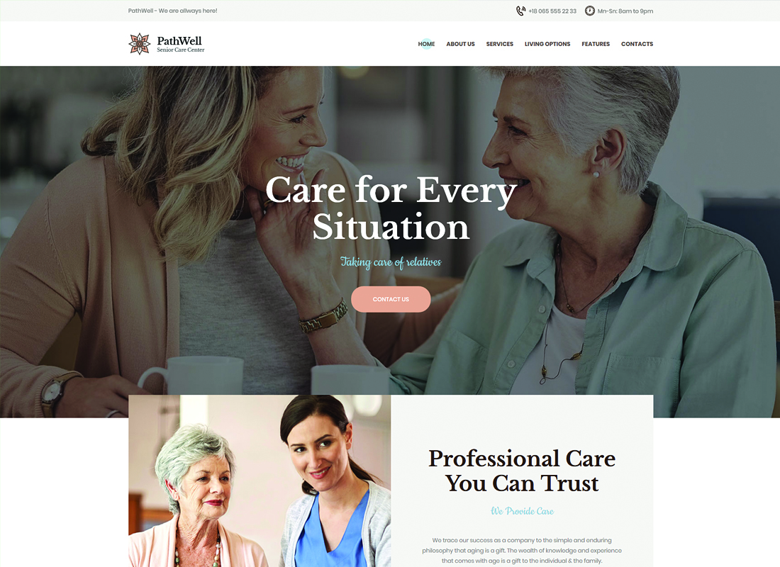 PathWell - A Senior Care Hospital WordPress Theme