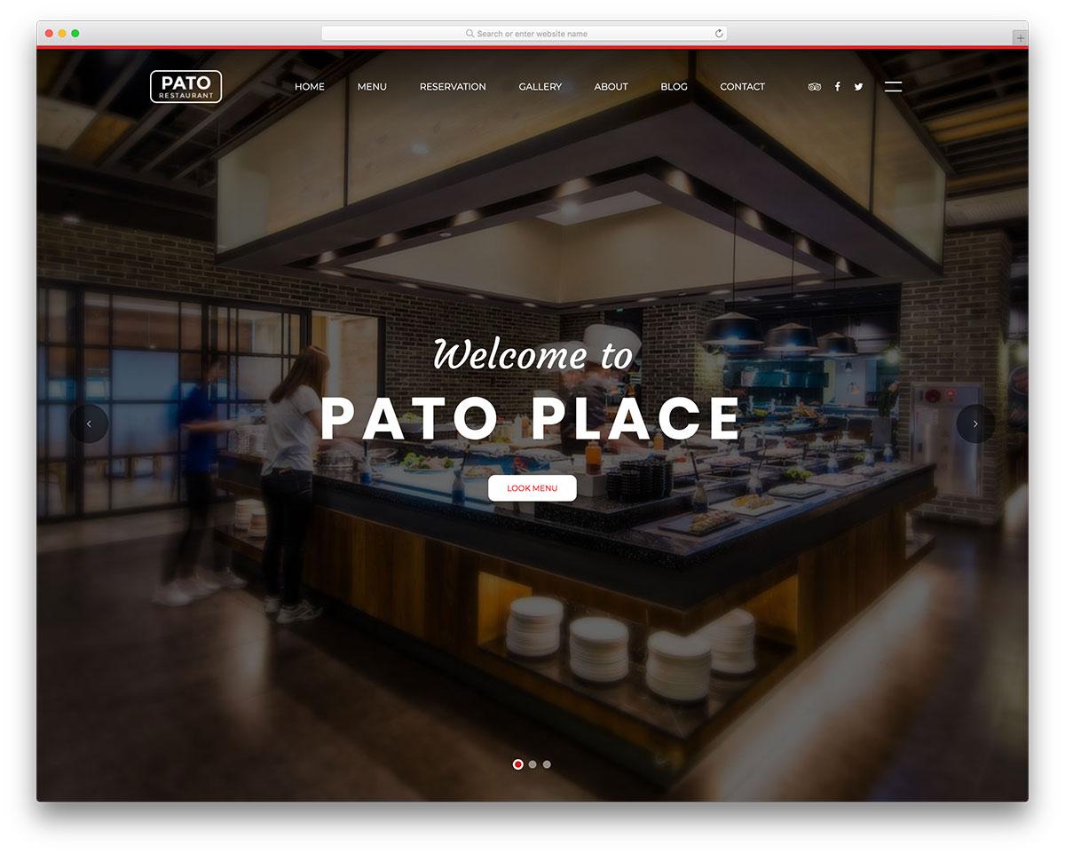 17 Best Free Restaurant Website Template 2018 - Colorlib