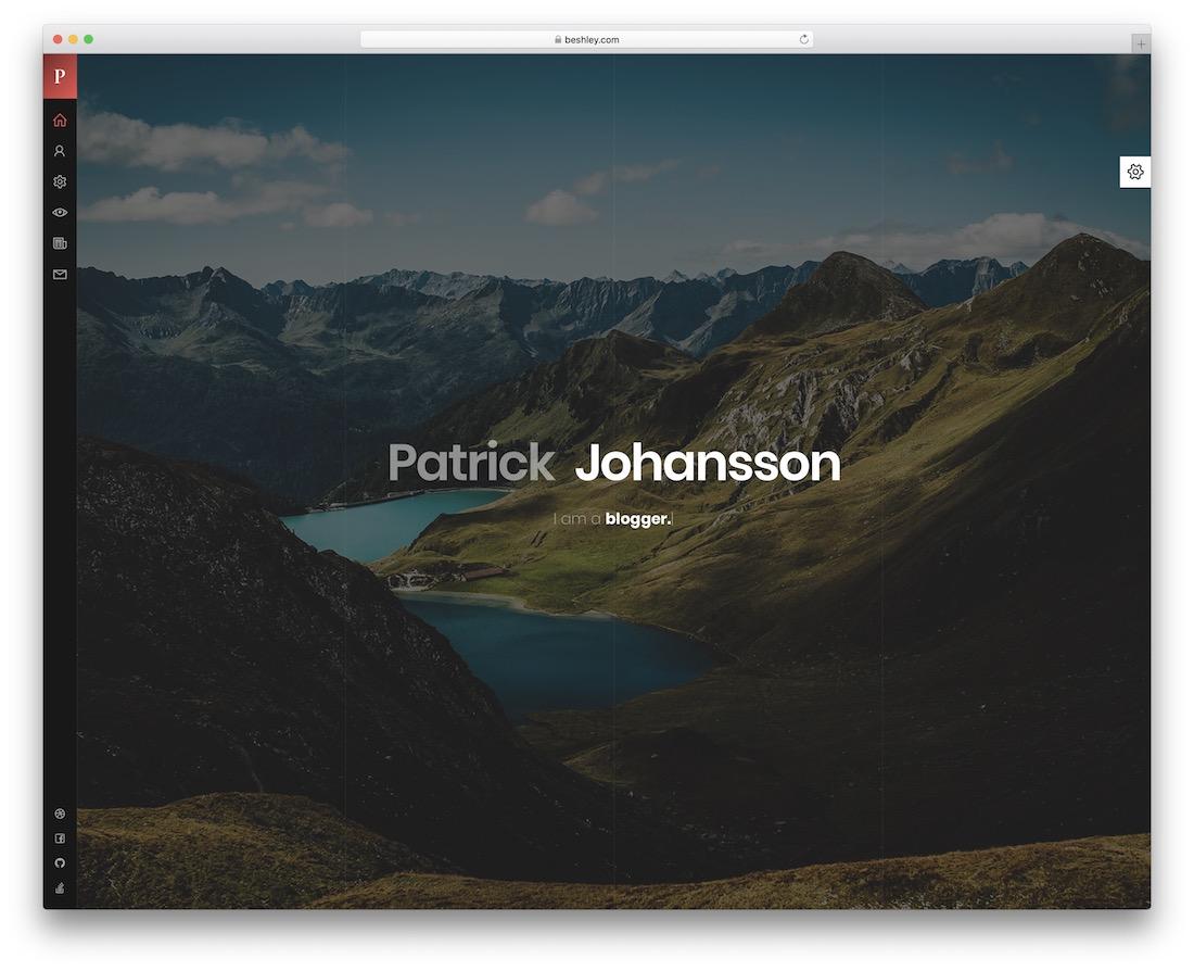 patrick html5 resume template