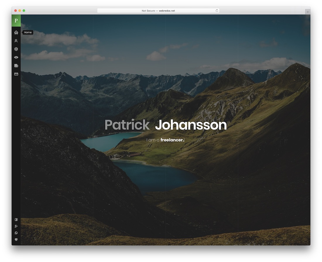 patrick vcard wordpress theme