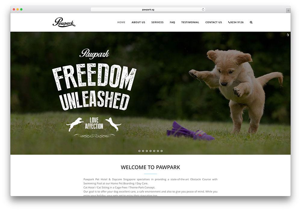 pawpark-animal-website-example