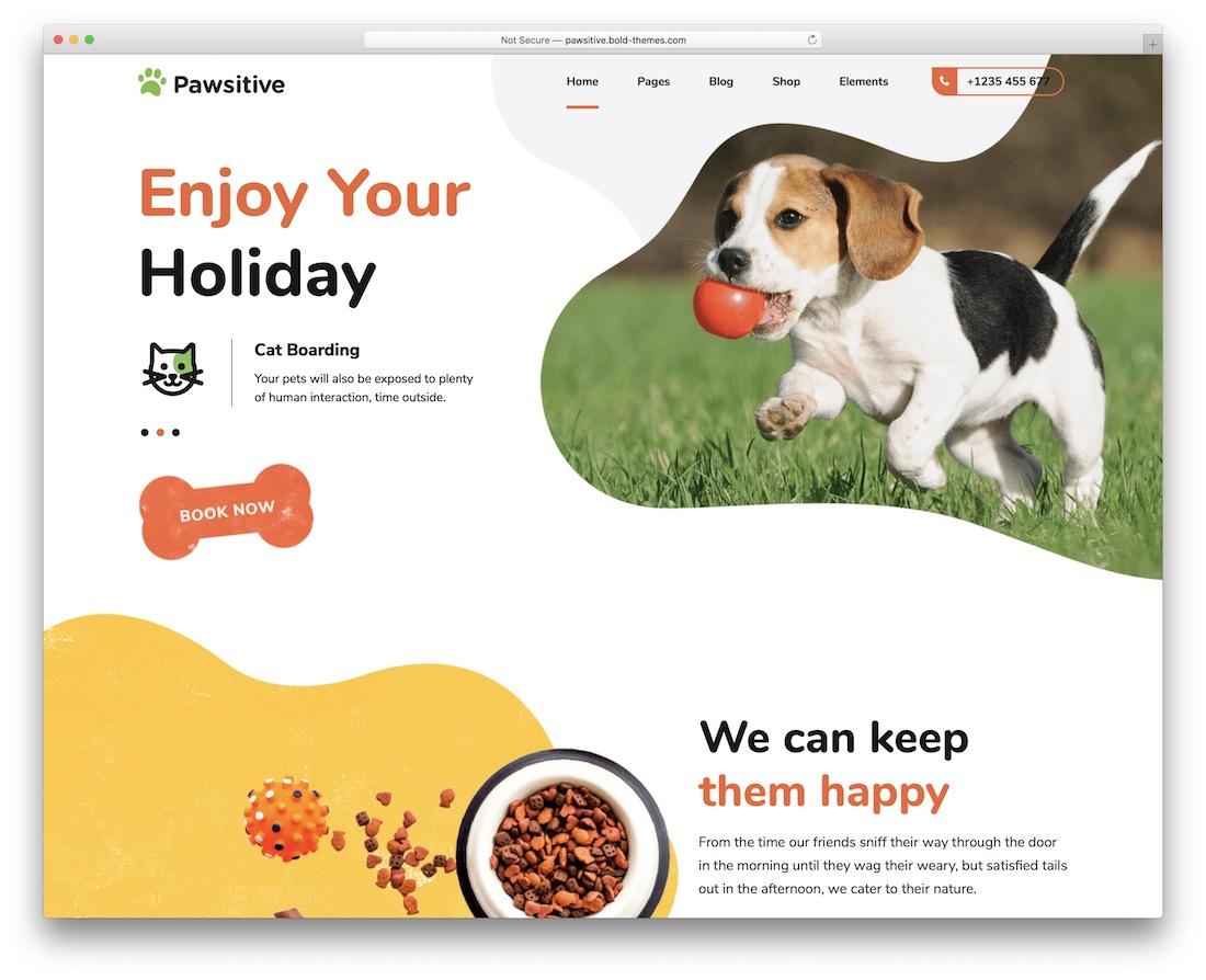 pawsitive animal wordpress theme