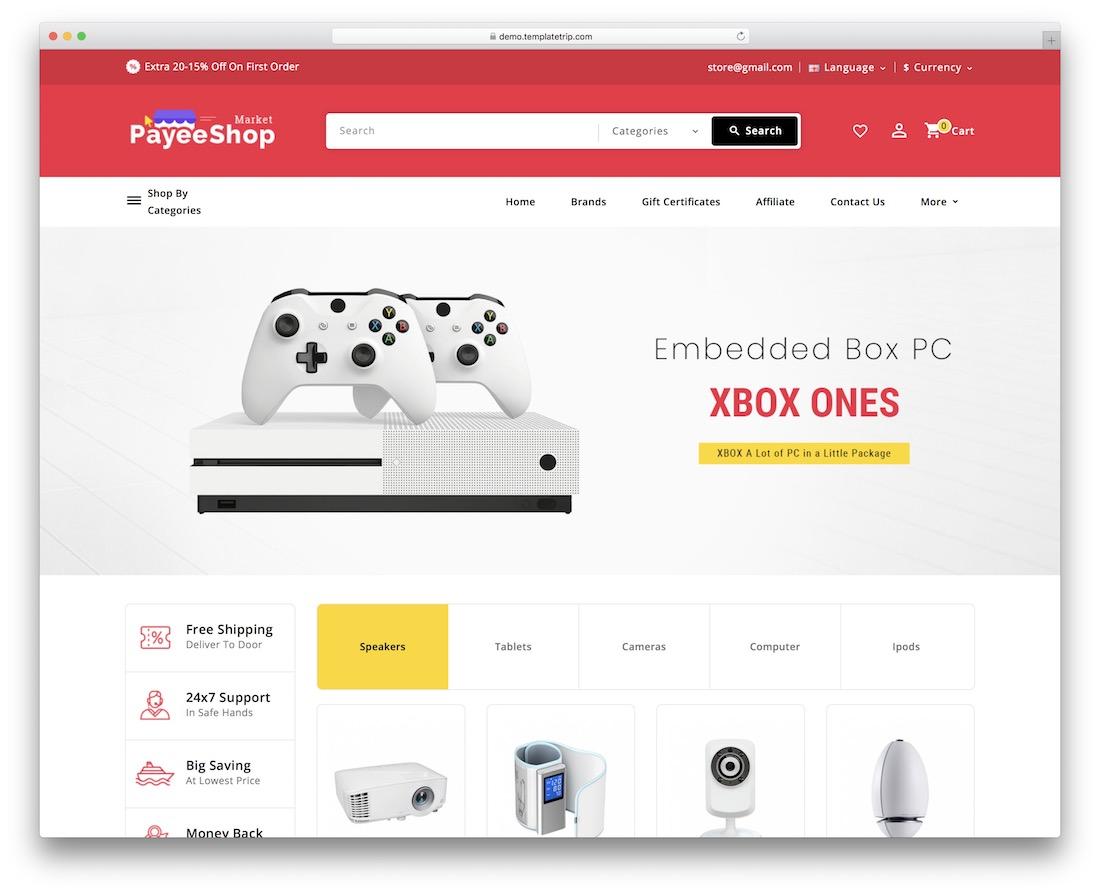 payee shop shopify technology theme