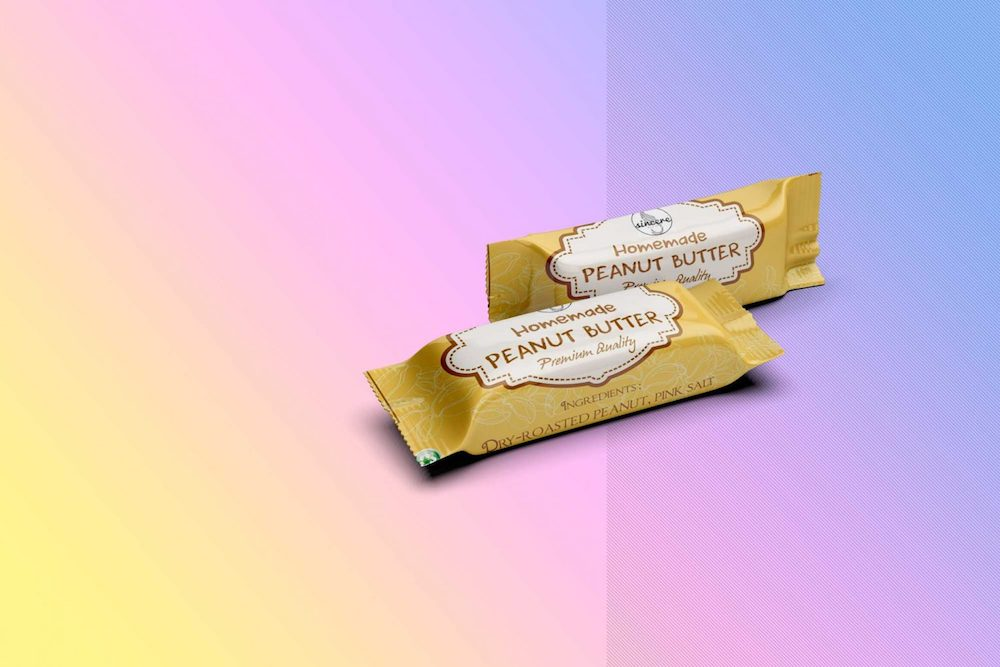 peanut butter chocolate packaging mockup