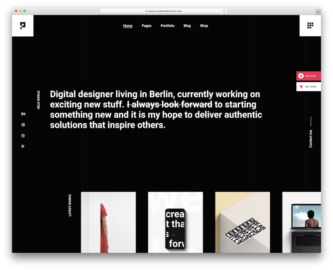 pearce designer wordpress theme