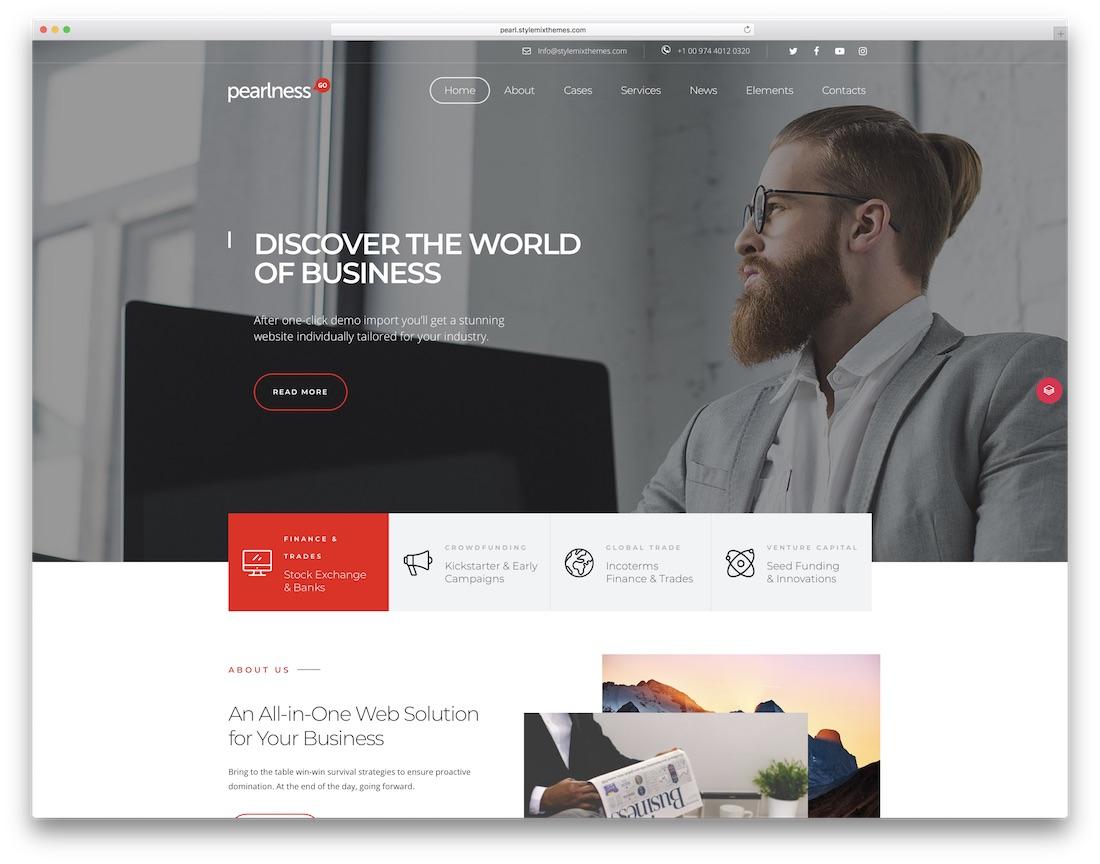 pearl multipurpose clean wordpress theme