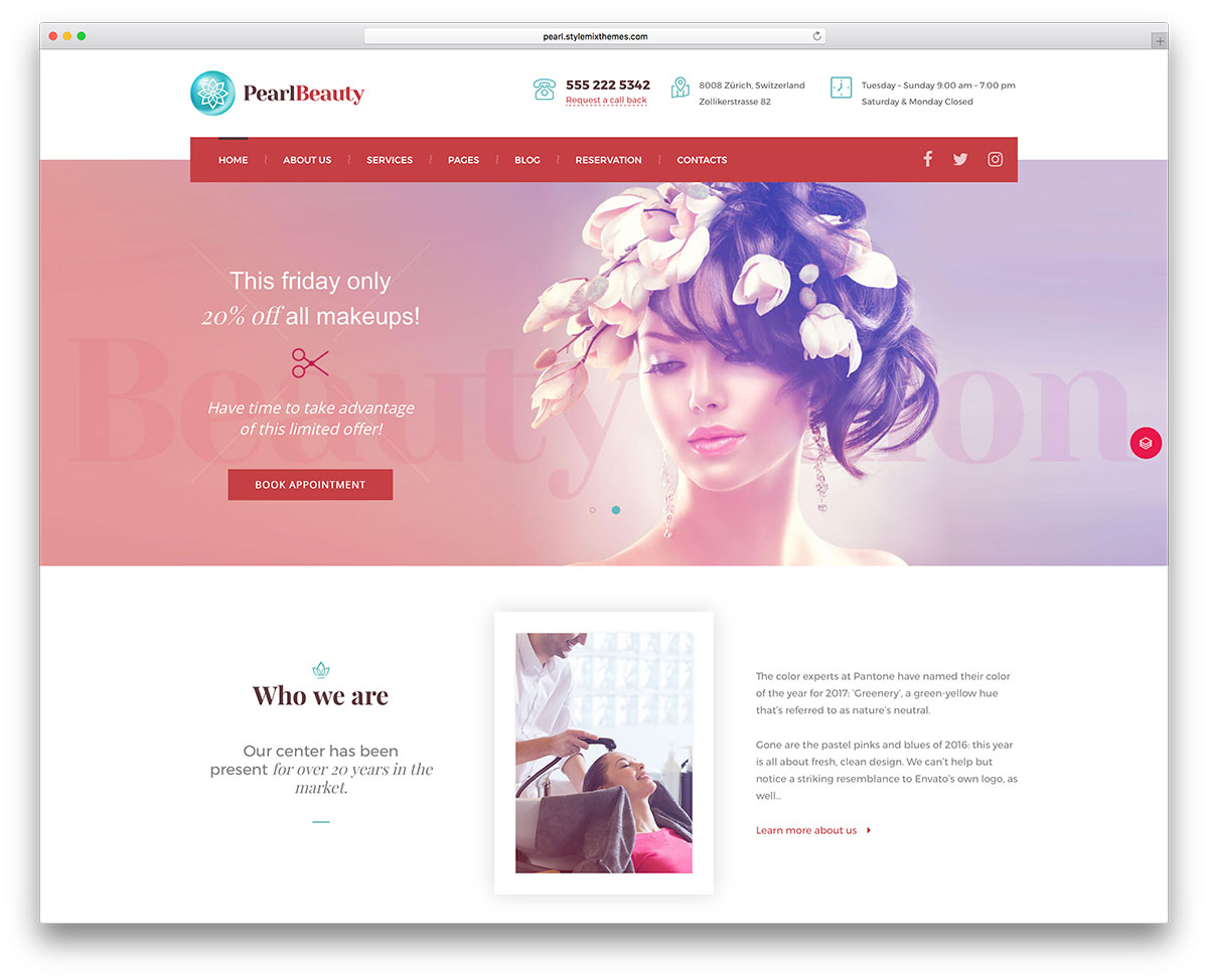 Best Spa Salon Wordpress Themes on Beauty Salon Design Ideas
