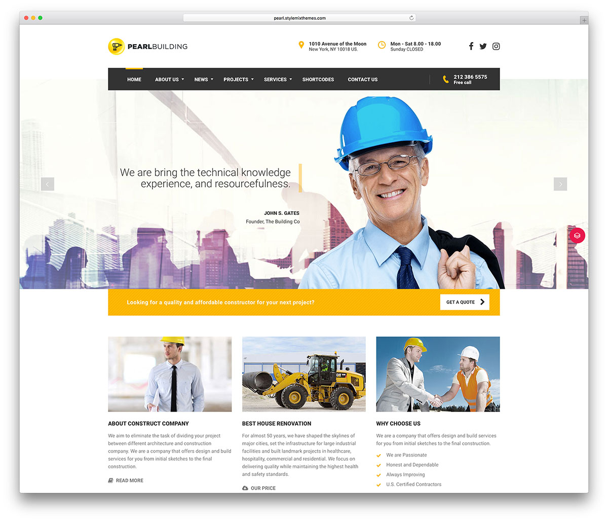46 best construction company wordpress themes 2018 colorlib that is not a catchy publicity it is the truth it is a one of a kind fully versatile creation whether your business is restaurants friedricerecipe