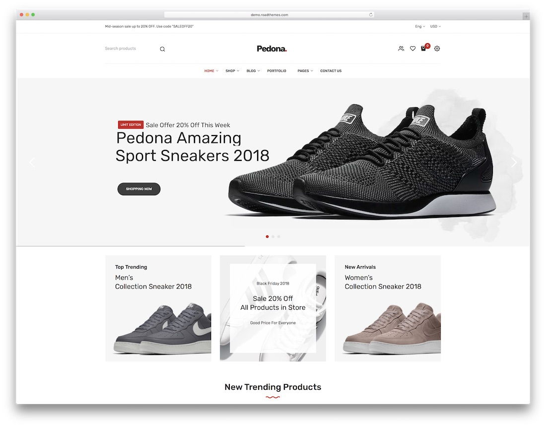 pedona fashion ecommerce theme