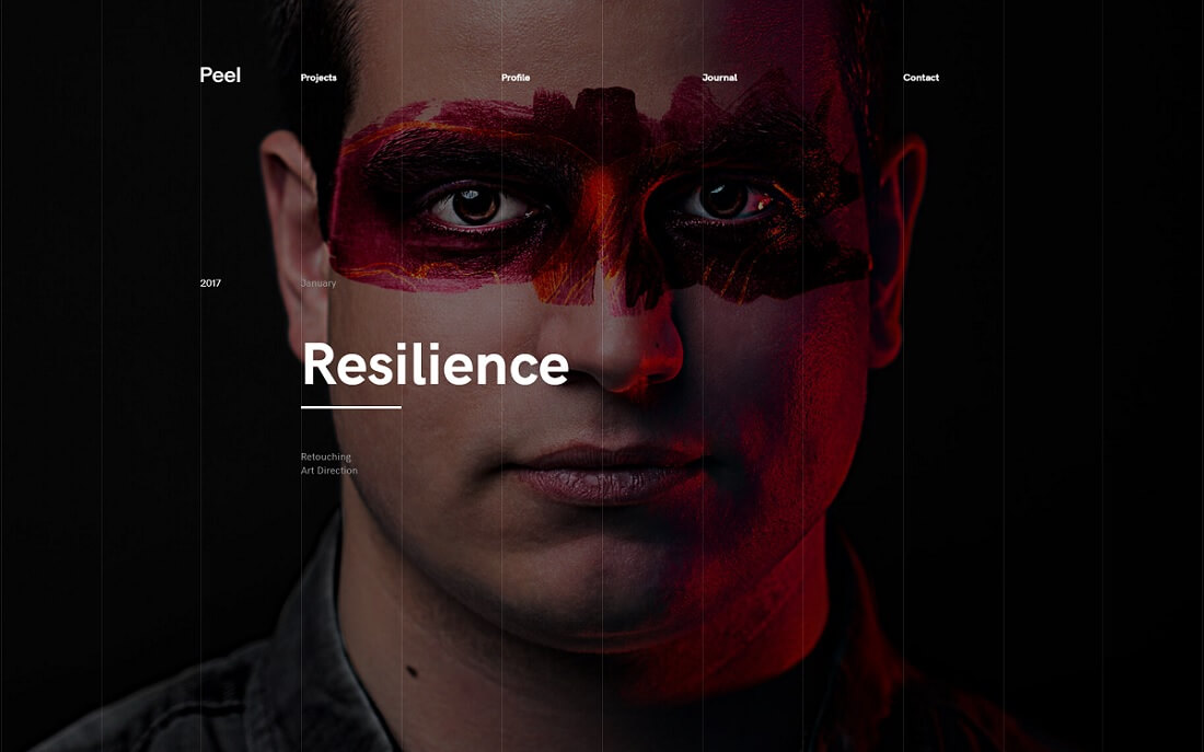 peel artist website template