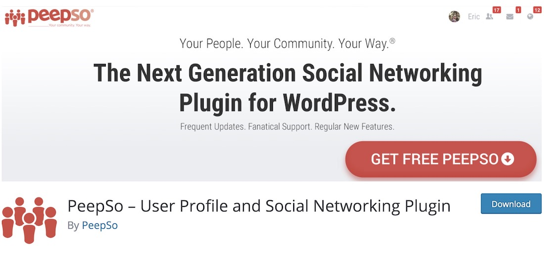 peepso wordpress forum plugin